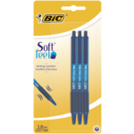 Ручка Bic Soft Feel Clic Grip синяя 3шт в блистере (bc837396)