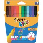 Фломастеры Bic Kids Visa 880 12 цветов (bc888695)