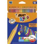Карандаши цветные Bic Evolution Stripers 18 шт (bc950524)