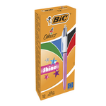 Ручка Bic 4 in 1 Colours Shine Pink розовая (bc951352)