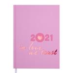 Ежедневник датированный 2021 Buromax Crayon А5 336 с. Розовый (BM.2107-10)