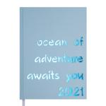 Ежедневник датированный 2021 Buromax Crayon А5 336 с. Голубой (BM.2107-14)