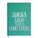 Ежедневник датированный 2021 Buromax Crayon А5 336 с. Салатовый (BM.2107-15)