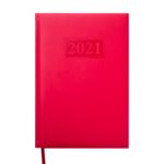 Ежедневник датированный 2021 Buromax Gentle (Torino) А5 с обложкой из искусственной кожи 336 с. L2U Красный (BM.2109-05)