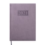 Ежедневник датированный 2021 Buromax Gentle (Torino) А5 с обложкой из искусственной кожи 336 с. L2U Серый (BM.2109-09)