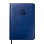 Ежедневник датированный 2021 Buromax Bravo (Soft) А5 с обложкой из искусственной кожи 336 с. L2U Синий (BM.2112-02)