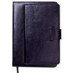 Ежедневник датированный 2021 Buromax Epos А5 с обложкой из искусственной кожи 336 с. Черный (BM.2149-01)