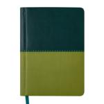 Ежедневник недатированный Buromax Quattro А6 с обложкой из искусственной кожи 288 с. L2U Темно-зеленый со светло-зеленым (BM.2609-87)