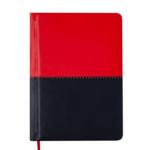 Ежедневник недатированный Buromax Quattro А6 с обложкой из искусственной кожи 288 с. L2U Красный с черным (BM.2609-94)