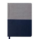 Ежедневник недатированный Buromax Quattro А6 с обложкой из искусственной кожи 288 с. L2U Синий с серым (BM.2609-95)