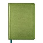 Ежедневник недатированный Buromax Metallic А6 с обложкой из искусственной кожи 288 с. Зеленый (BM.2613-04)