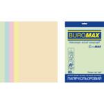 Набор цветной бумаги Buromax Euromax А4, 80г/м2, PASTEL, 5цв., 20л. (BM.2721220E-99)