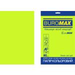 Бумага цветная Buromax Euromax А4, 80г/м2, NEON, зеленый, 20л. (BM.2721520E-04)