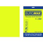 Бумага цветная Buromax Euromax А4, 80г/м2, NEON, желтый, 20л. (BM.2721520E-08)