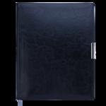Еженедельник датированный 2021 Buromax Salerno A4 с обложкой из искусственной кожи 136 с. L2U Черный (BM.2781-01)