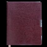 Еженедельник датированный 2021 Buromax Salerno A4 с обложкой из искусственной кожи 136 с. L2U Коричневый (BM.2781-25)