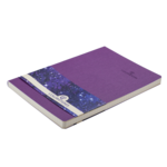 Деловой блокнот Buromax Color Tunes А5 96 л. в клетку с обложкой из искусственной кожи Фиолетовый (BM.295100-07)
