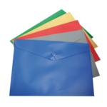 Папка-конверт А5 на кнопке, ассорти, глянцевая непрозрачная (BM.3935-99)