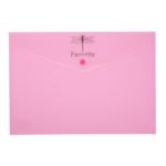 Папка-конверт А4 на кнопке Buromax PASTEL, розовый (BM.3953-10)