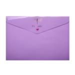 Папка-конверт на кнопке Buromax Favourite Pastel A4 Сиреневая (BM.3953-26)