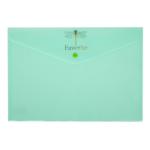 Папка-конверт А4 на кнопке Buromax PASTEL, бирюза (BM.3953-38)