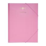 Папка А4 на резинках Buromax PASTEL, розовый (BM.3954-10)