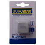 Точилка Buromax CUBE, RUBBER TOUCH, пластиковый корпус, контейнер, 1 шт. (блистер) (BM.4757-1)