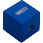 Точилка Buromax CUBE, RUBBER TOUCH, пластиковый корпус, контейнер, ассорти цветов (BM.4757)