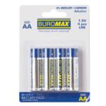 Набор элементов питания (щелочные батарейки) Buromax LR6 AA 1,5 V 4 шт. в упаковке (BM.5900-4)