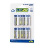 Набор элементов питания (щелочные батарейки) Buromax LR03 AAA 1,5 V 12 шт. в упаковке (BM.5901-12)