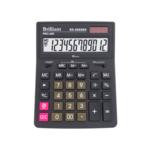 Калькулятор настольный Brilliant 12-разрядный с двухуровневой памятью 155х205х35 мм (BS-8888BK)