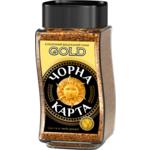 Кофе растворимый Черная Карта Gold, сткл.б. 190г *6 (8718) (ck.51156)