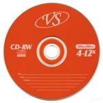 Диск CD-RW MIX, 700 Mb, 4-12 х, Slim