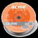 Диск CD-RW MIX, 700 Mb, 4-12 х, Cake (10), 10 шт