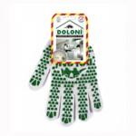 Перчатки трикотажные рабочие Doloni, 547, белые с точкой (d.20017)