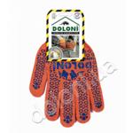 Перчатки трикотажные рабочие Doloni, 526, оранжевые с точкой (d.20154)