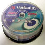 Диск CD-R Verbatim, 700 Mb, 52 х, 80 min, Cake (25), Extra, 25 шт