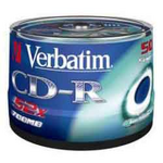Диск CD-R Verbatim, 700 Mb, 52 х, 80 min, Cake (50), Extra, 50 шт (d.33990.053)