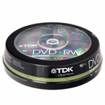 Диск DVD-RW MIX, 4.7 Gb, 2x-4х, Cake (10)