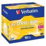 Диск DVD+RW Verbatim, Matt Silver, 4.7 Gb, 8 х, Case (10)