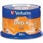 Диск DVD-R Verbatim, 4.7 Gb,16 х, Wrapped Matt Silver, Srink (50)