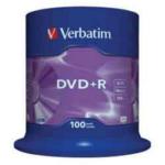 Диск DVD+R Verbatim, 4.7 Gb,16 х, Cake (100), 100 шт (d.54290.056)