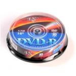 Диск DVD+R MIX, 4,7 Gb, 4 х, Cake (10), 10 шт