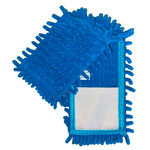 Насадка сменная для швабры Вироблено в Україні из микрофибры шиньон 1000 пальцев Голубая (EF-1000-B)
