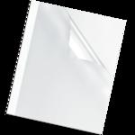 Обложка для термопереплета Fellowes Standing 6 мм, пластик, белые, А4, 1 шт (f.53154)