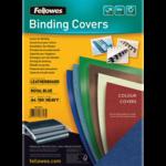 Обложки картонные Fellowes Delta, под кожу, темно-синие, А4, 250 г/м2, 100 шт. (f.53713)
