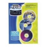 Матовые этикетки c вкладышами Fellowes Neato f.99922, для CD/DVD дисков, 20 шт/комплект
