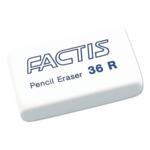 Ластик неабразивный Factis Pencil Eraser, синтетический каучук, белый (fc.36R)