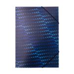 Папка на резинках Buromax пластиковая Flash A4 Синяя (BM.3958-02)
