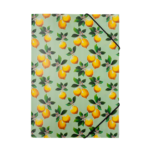 Папка на резинках Buromax пластиковая Lemons A4 Салатовая (BM.3958-15)
